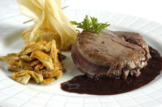 Faux filet de bœuf Aubrac au beurre rouge